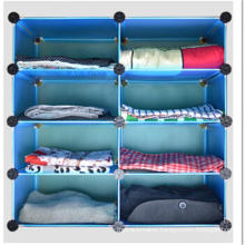Blue Armoire Storage Rack Cabinet for Clothes