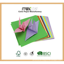 105 * 105m m colores múltiples mezcló el papel del arte de la mano