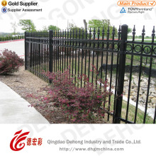 Customized Elegant Hot Sales Wrought Iron Security Fence with Galvanized
