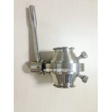 Sanitary Stainless Steel Clamped Butterfly-Ball Valve