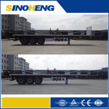 China Mejor venta de 3 ejes 40ft 13m Semi remolque plano