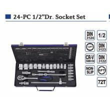 """High Grade 24PCS 1/2"""" Socket Set"""