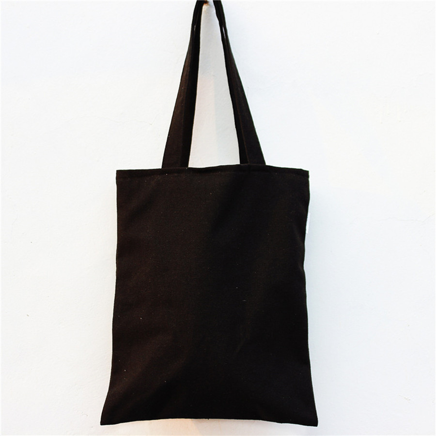 Custom black canvas tote bags