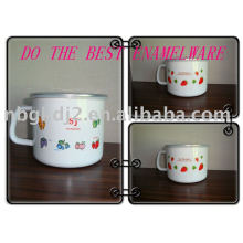the enamel milk pot of single handle