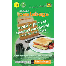 ToastaBag Bolsas antiadherentes reutilizables, 2 paquetes