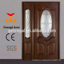 Exterior oval glass Painted Solid wood door