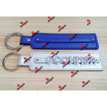 Porte-clés en cuir pour diapositives en cuir pour cadeaux promotionnels (SLK50911)