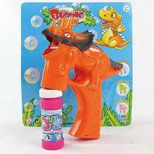 Электрическая летняя игрушка легкого динозавра Bubble Gun