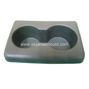 Injection molding for automotive cup holder