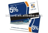Magnetic stripe loyalty card for supermarket