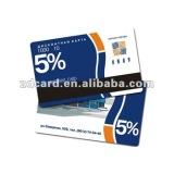 Magnetic stripe loyalty card for supermarket