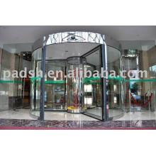 Porte tournante en verre