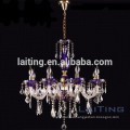 8 lights gorgeous blue chandelier for lighting projects