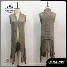Suéter sin mangas de cintura baja para mujer