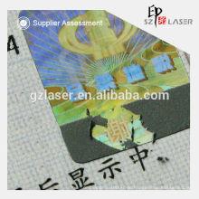 Hologramm Sicherheit Kratzer von Siegel Aufkleber Hersteller