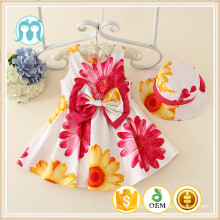 Spring Patterned Girls Dreses Baby Girls Dress Cotton Dress With Cotton Causal Children Clothes For Kids