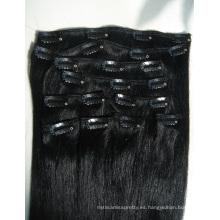 Clip en extensiones de cabello para mujeres negras
