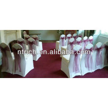 Lycra/Spandex chair covers,organza sash for wedding and banquet