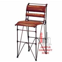 Leder Eisen Bar Stuhl