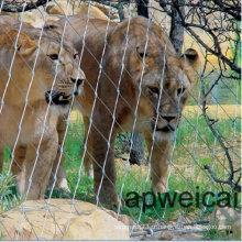 Maille de cage de corde de tigre de barrière de clôture de lion