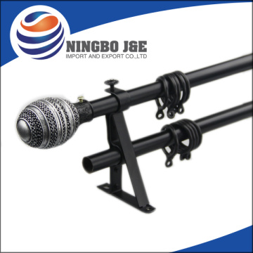 19mm Spray Paint Black  Metal Curtain Pole