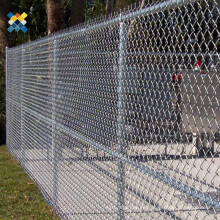Security Construction Site Chain Link Fence Hot Dipped Galvanized Treatment