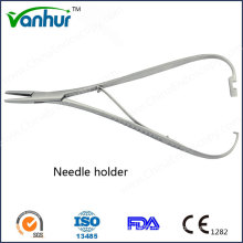 Ent Basic Surgical Instruments Straight with Lock Aiguille Holder Forceps