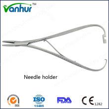 Ent Instrumentos Cirúrgicos Básicos Straight with Lock Agulhas de suporte de agulhas