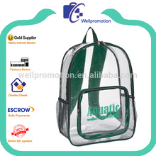 Cheap factory kids plastic backpack transparent PVC