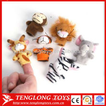 Kids pretend play toy animal plush finger puppets