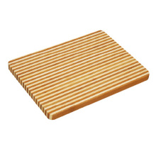 Whole Sale rectangular honey stripe bamboo chopping block