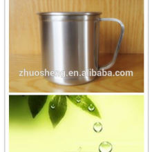 respectueux de l'environnement imprimés tasses acier inoxydable plein air chaud café prix bas avec poignée