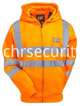 Hi Vis Orange Reflective Full-Zip Lined Sweatshirt (1)