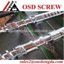 Single U-PVC screw barrel for plastic tube extruder