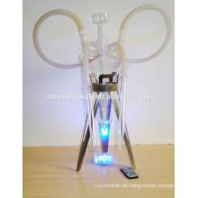 GH079-LT Klarglas-Huka Shisha / Nargile / Wasserleitung / mit LED-Licht