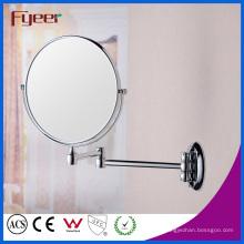 Espejo plegable redondo de la pared del maquillaje del cuarto de baño de Fyeer (M0188)