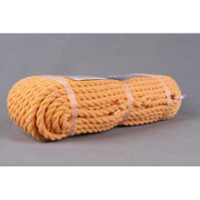 orange cotton+pp twisted rope with competitive price