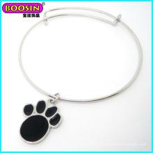 Bracelet de nouvelle extension de charme de chien argenté nouvelle arrivée # 19927