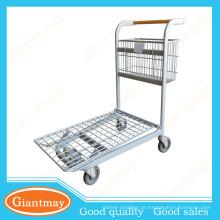 trole de pacote plano forte e durável de supermercado pesado