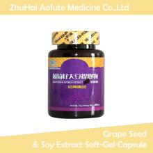 Extrait de raisin naturel et extrait de soja Soft-Gel Capsule