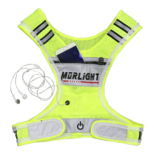 Charger Type Luminous Vest Simple and Safe Warning Night Running Sports Construction Site, Reflection Vest/