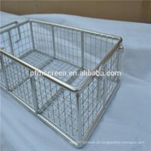 201, 304, 316, 316L personalizado cesta de malha de arame de aço Inoxidável
