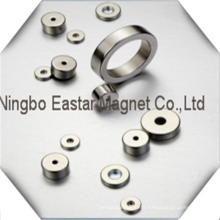 N52 High Grade Ring Shape NdFeB Magnet with Nickel Plating