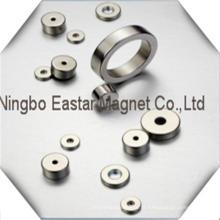 N52 Ímã de NdFeB de forma alto grau anel com chapeamento niquelar