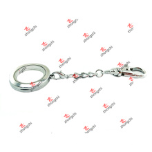 Venta al por mayor de aleación personalizada dos bucles de la historia lisa llaves llavero (lsc60105)