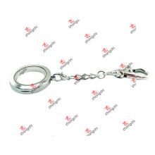 Venda Por Atacado liga personalizada dois laços história plana chaveiro lockets (lsc60105)