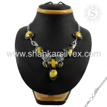 Resplendent 925 sterling multi gemstone silver jewelry wholesale handmade jewellery