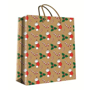 CHRISTMAS SERIES KRAFT GIFTBAG17-0