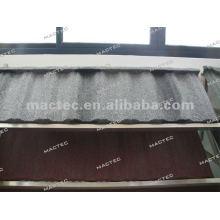 Telha de telhado de aço revestida de pedra