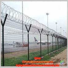 Hohe Verstärkung und Sicherheit Y Typ Post Low Carbon Stahl Draht Flughafen Zaun